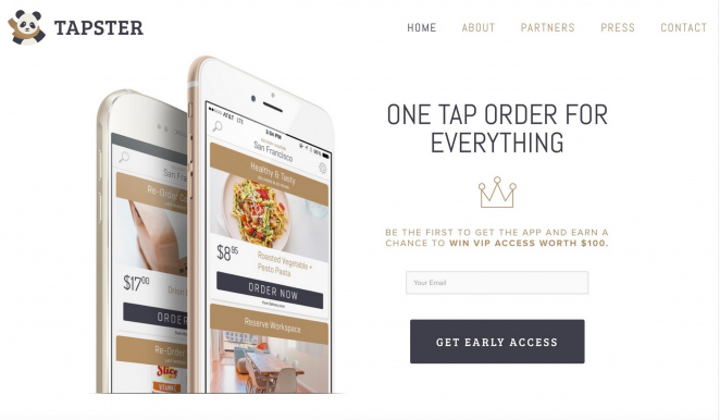 Tapster Coming Soon Page